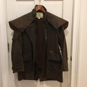 DRIZA-BONE Short Weatherall Brown Stockman Coat